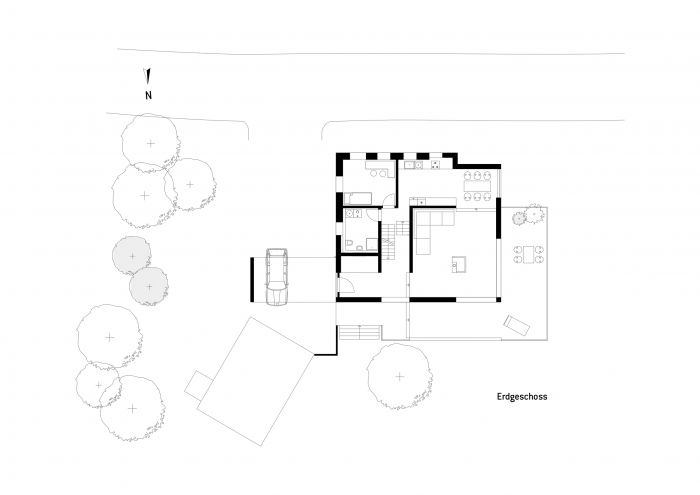 G05 | Private House, Lödla Thuringia - ground plan, first floor