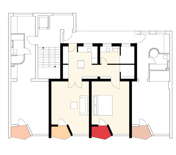 MONSIEUR VOUNG APARTEMENTS | Berlin - ground plan